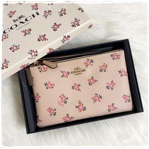 NIB! Coach Small Wristlet Floral Bloom Blush Pink
